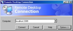 Connecting using putty with Windows Remote Desktop Windows Based